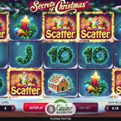 Drie free spins op Secrets of Christmas